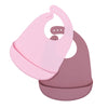 We Might Be Tiny Catchie Bibs - Dusty Rose & Powder Pink