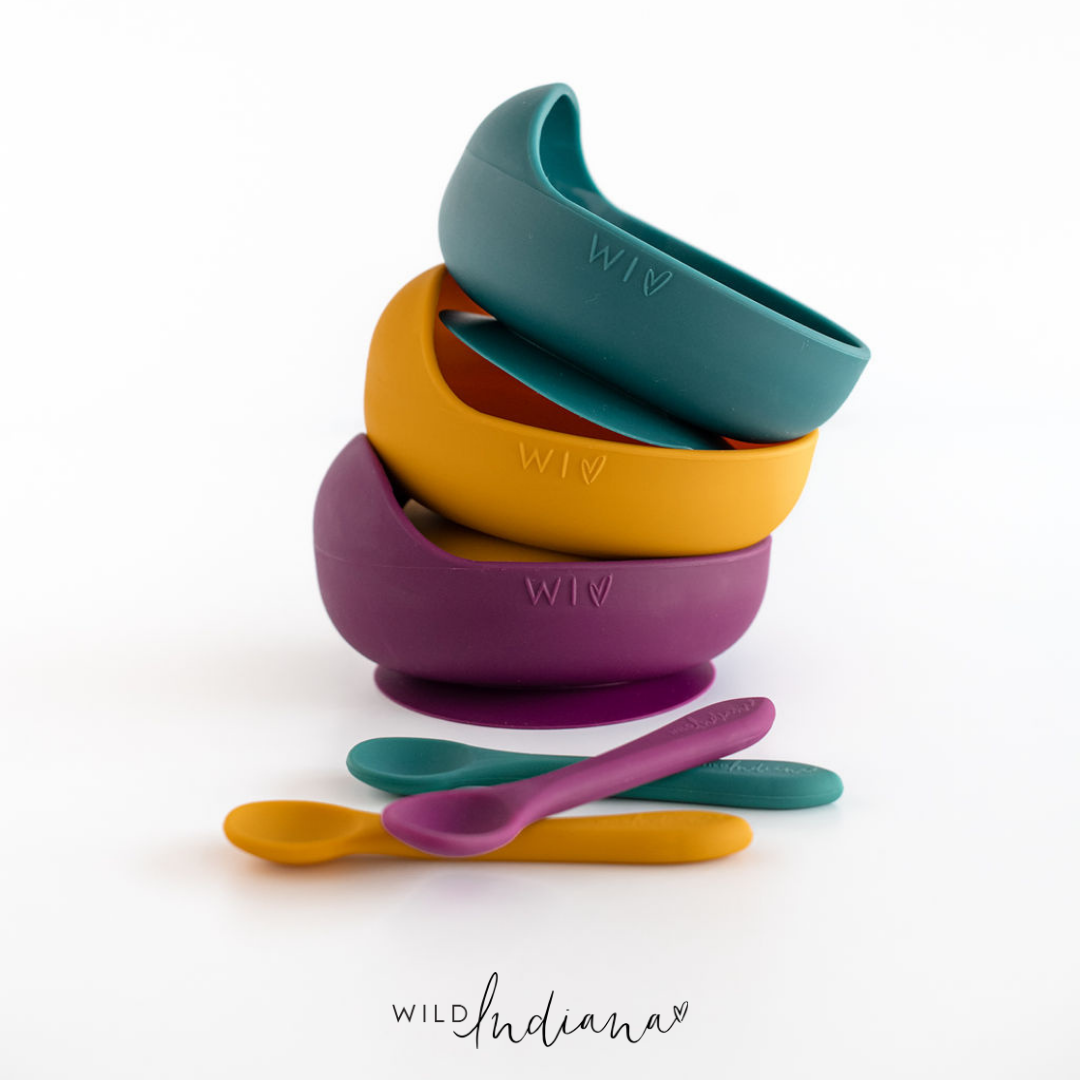 Wild Indiana Silicone Bowl Set - Limited Edition - Velvet