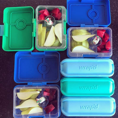 Wrap'd Silicone Wrap Holder and Yumbox MiniSnacks