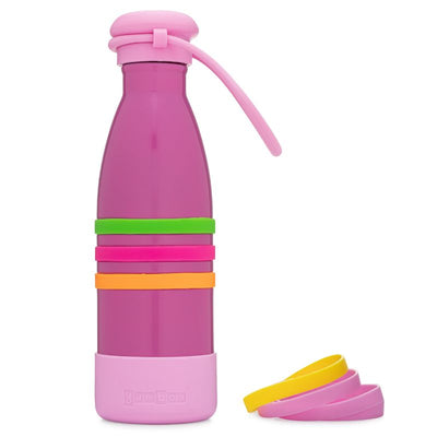 Yumbox Aqua Insulated Drink Bottle Pacific Pink