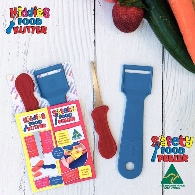Kiddies Food Kutter and Food Peeler - Twin Pack