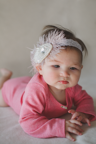 Feathers + Jewels Baby Headband