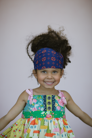 Danish Print Kids Head Wrap