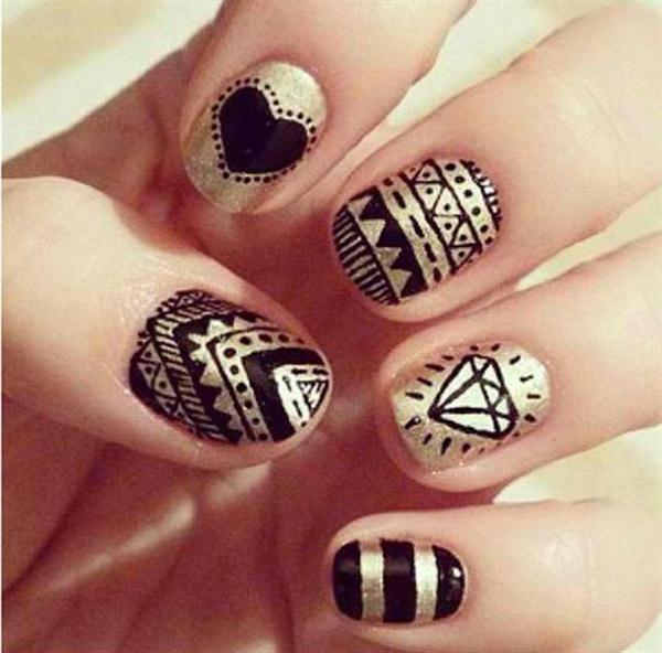 Simple-Black-Nail-Art-Designs-Supplies-For-Beginners-21