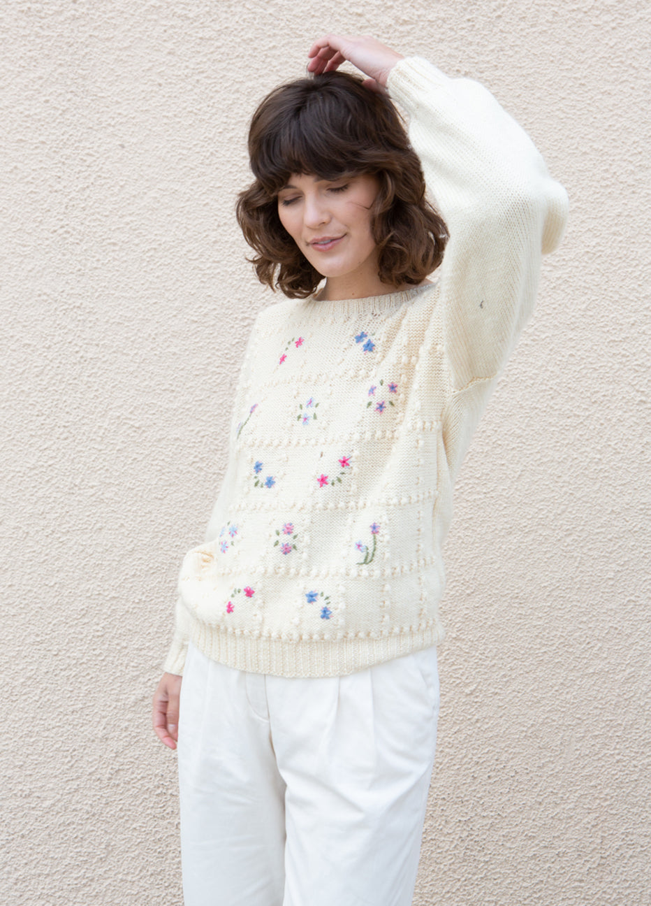 Embroidered Knit Sweater