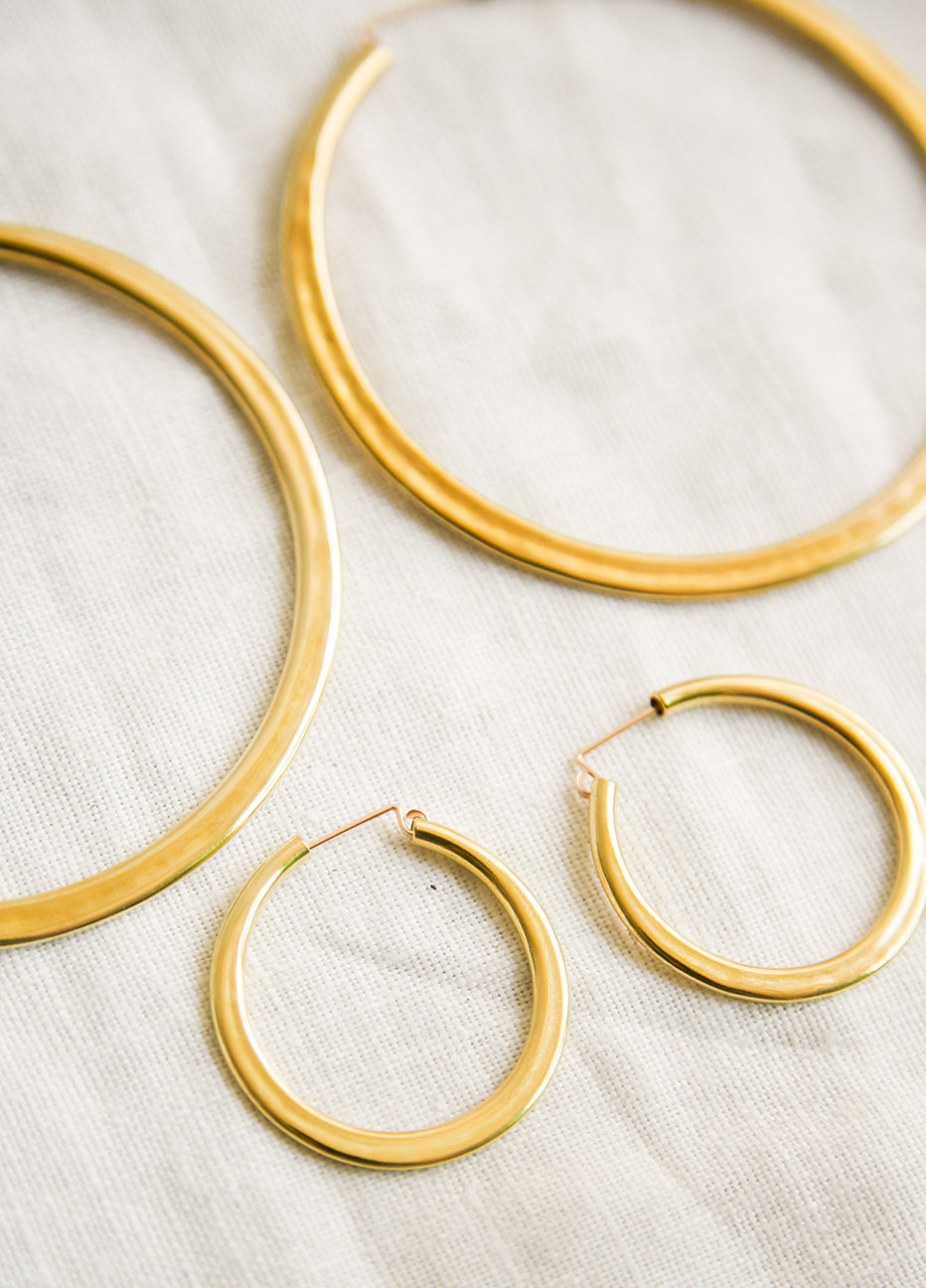 Lila Rice Simple Hoops