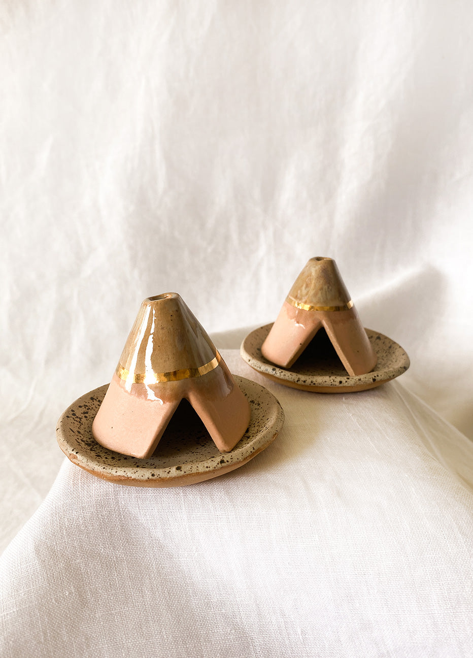 Teepee Incense Burner and Plate
