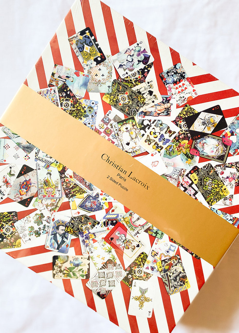 Christian Lacroix Maison De Jeu 250-Piece Double Sided Puzzle