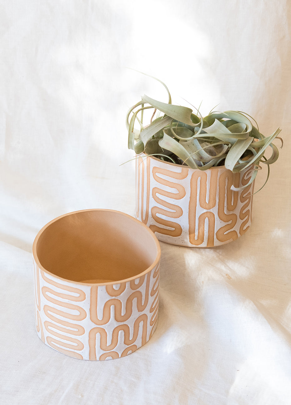Curious Clay Wiggle Plant Pot