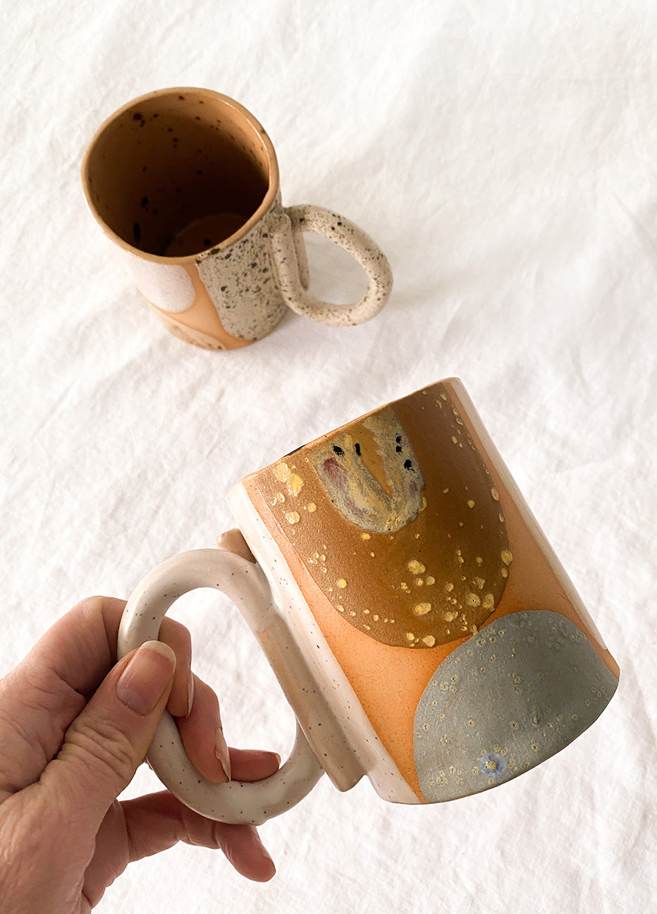 Curious Clay Clay Looped Handle Mug