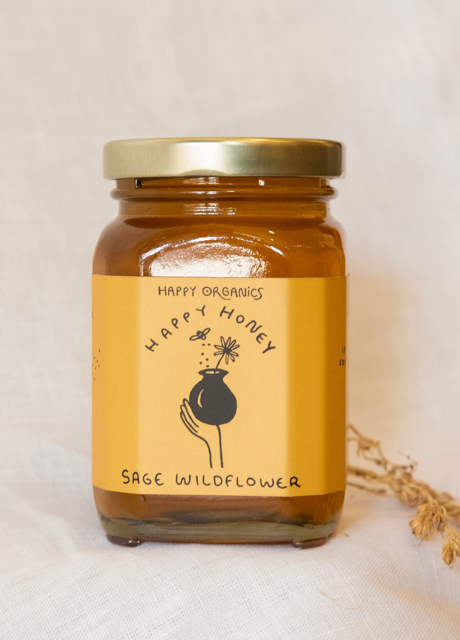 Happy Organics Sage Wildflower Honey
