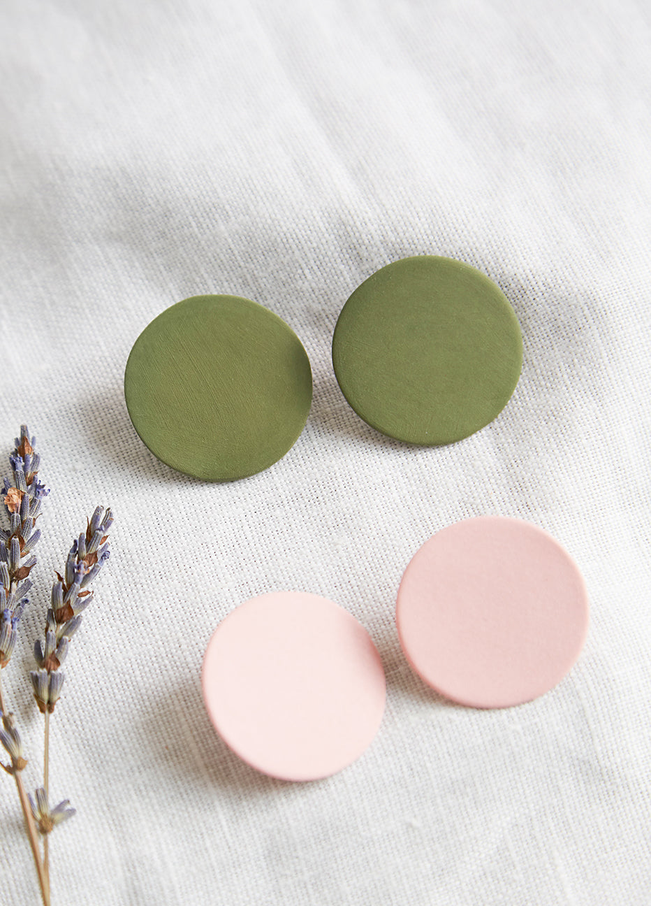 Four Eyes Ceramics Circle Earring
