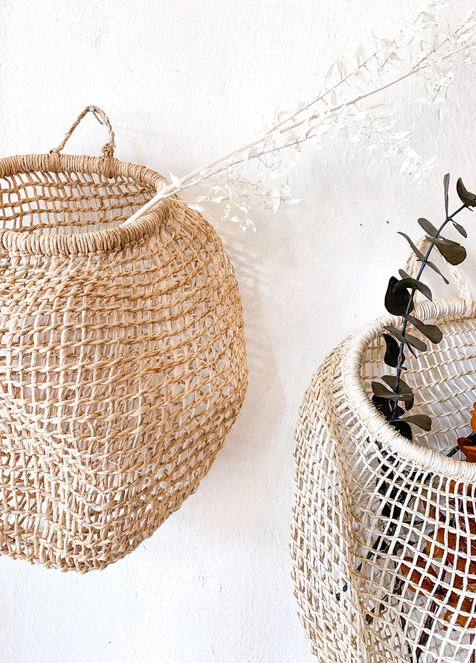 Nido Handwoven Tree Bark Hanging Basket