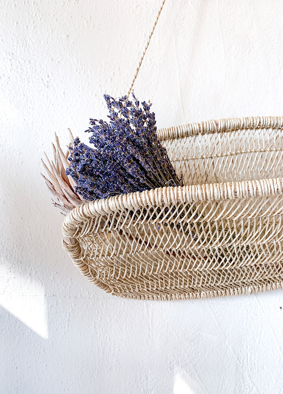 Nenes Handmade Tree Bark Hanging Basket