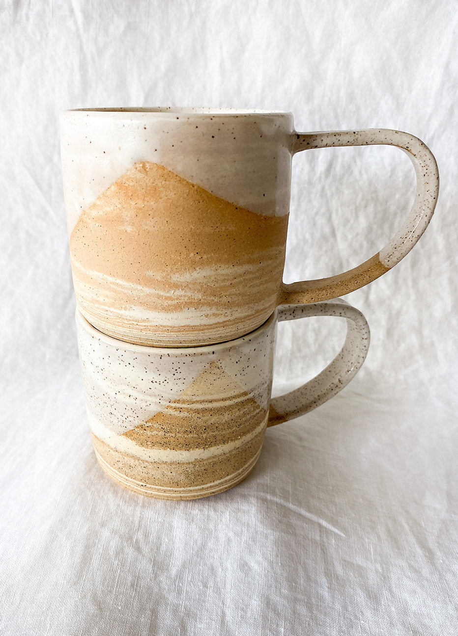 Wild Bower Studio Marbled White Mug