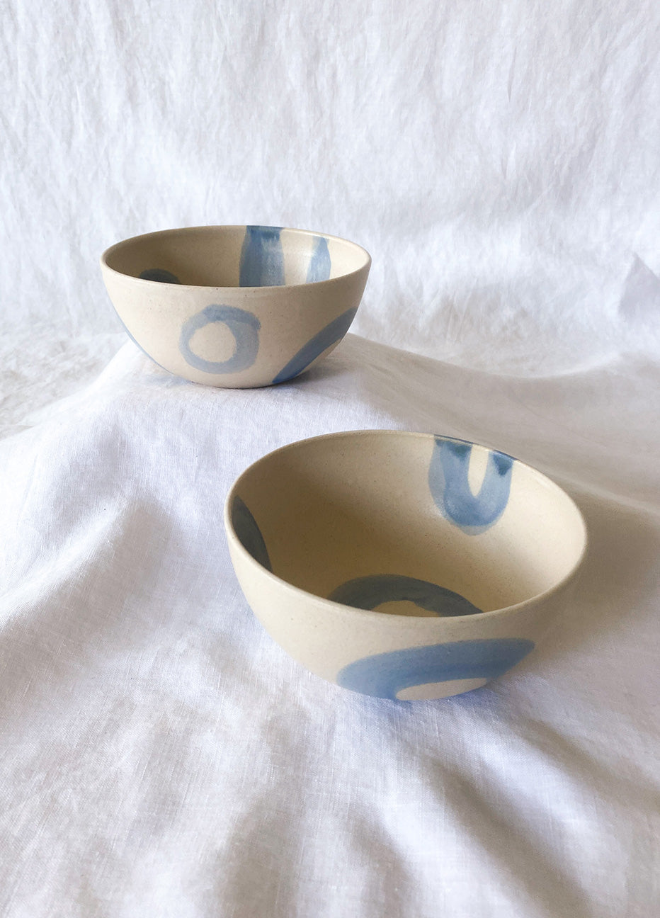 KVL Blue and White Cereal Bowl