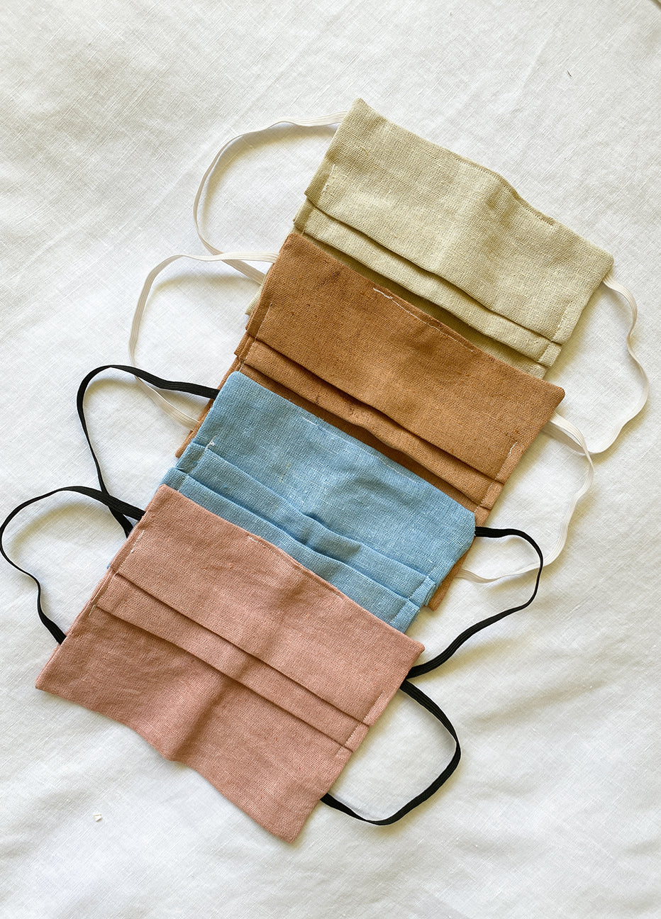 Naturaly Dyed Linen Masks