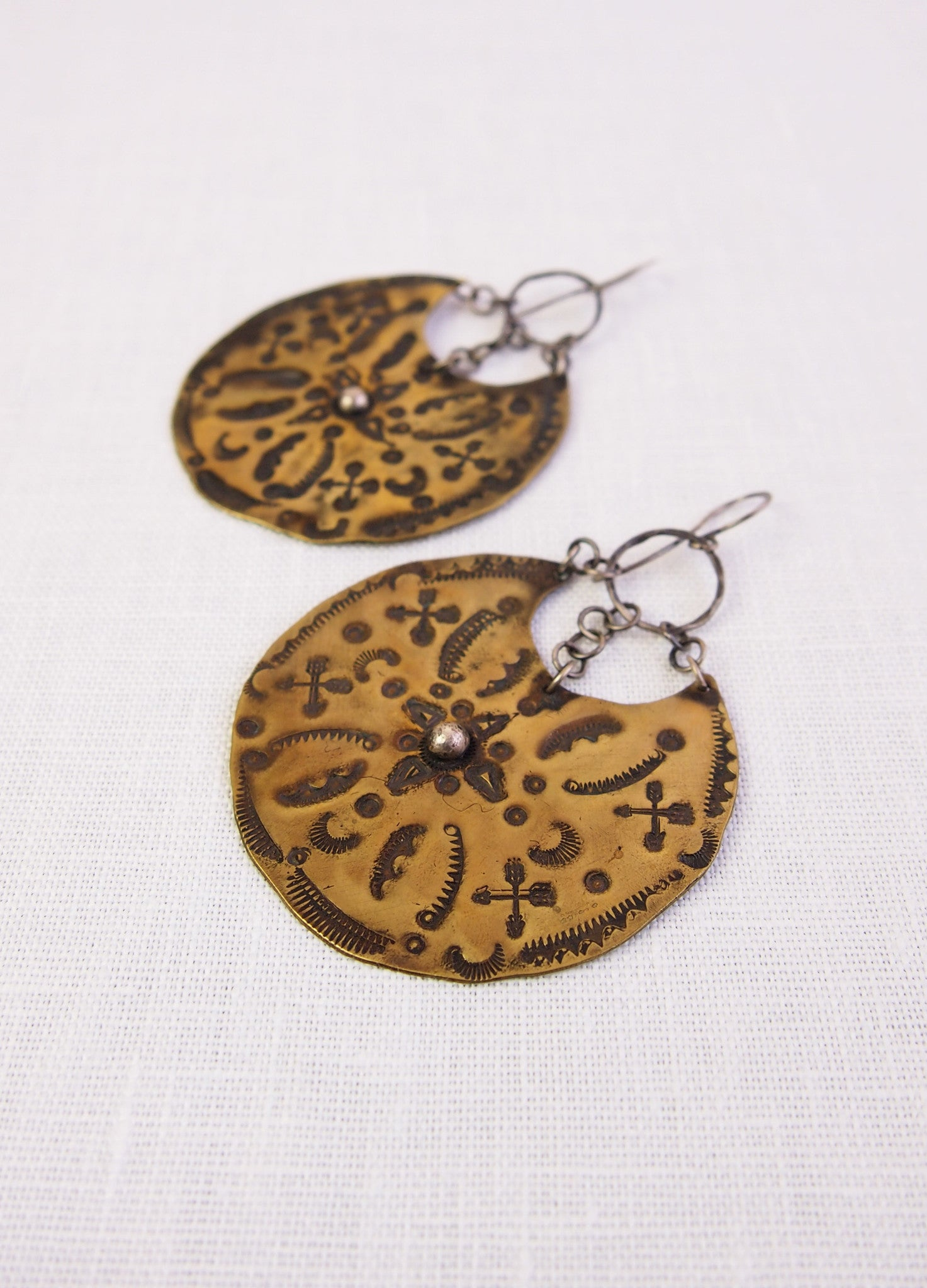 Sonja Rose Rayen Disc Earrings