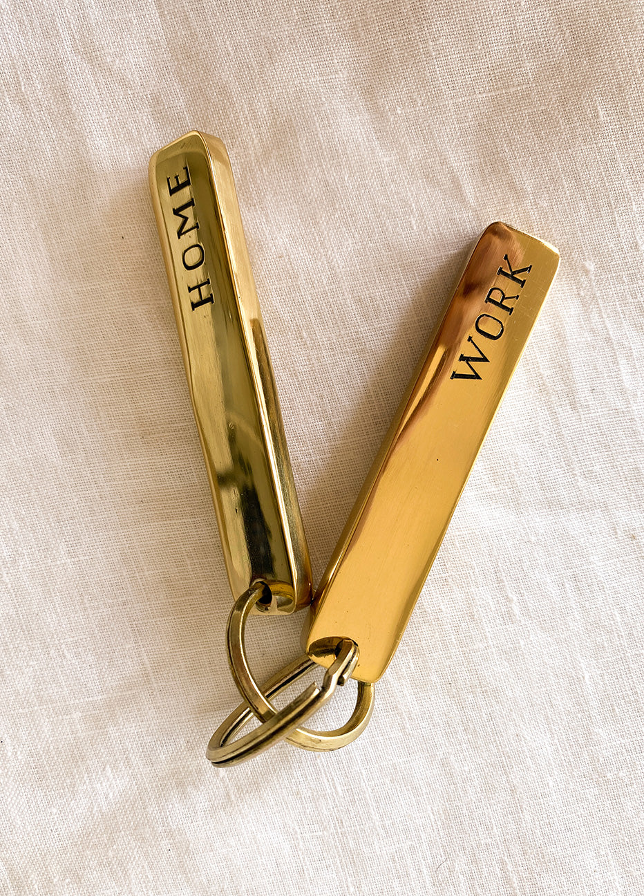 Brass Bar Keychains