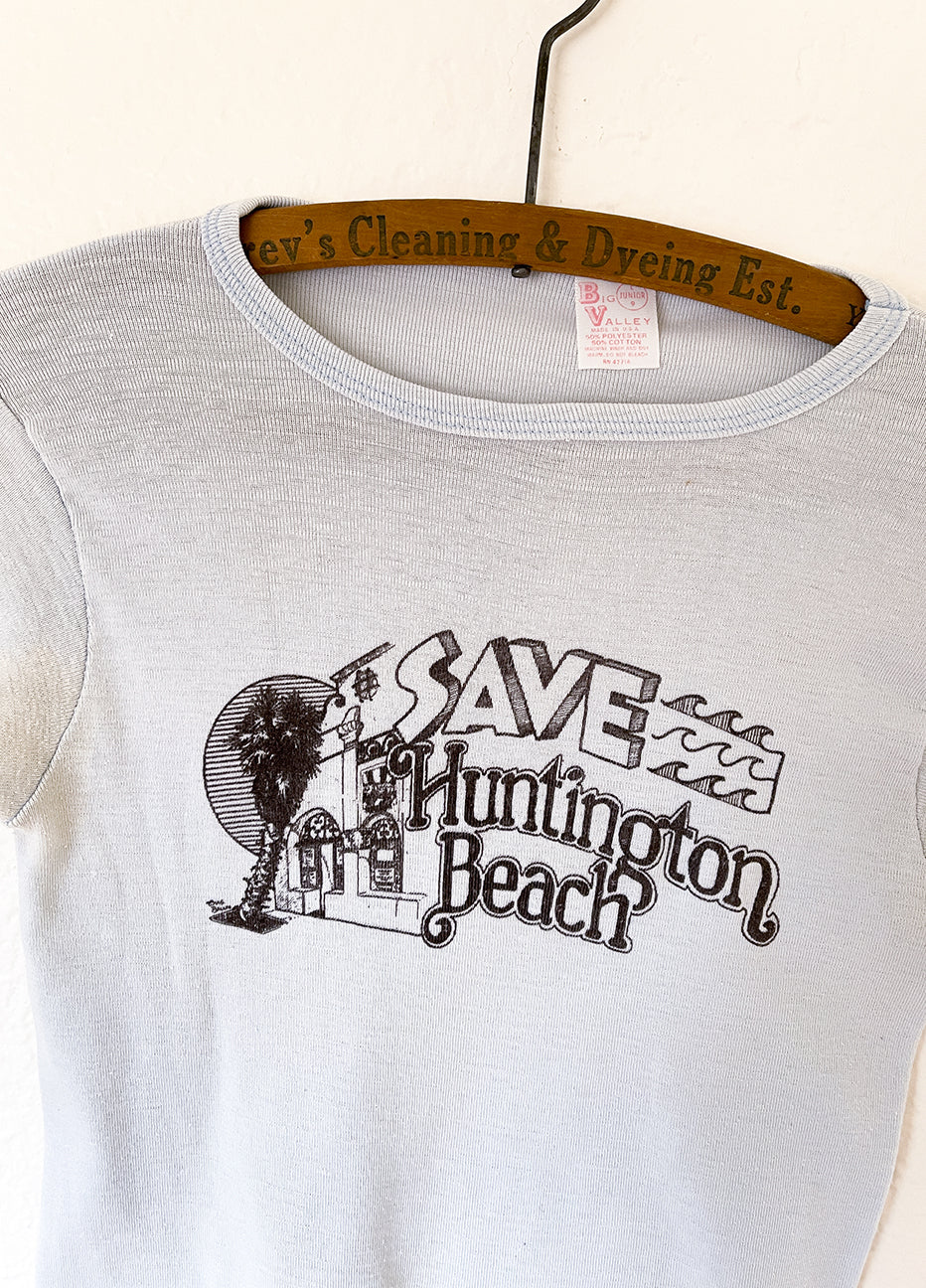 Vintage Save Huntington Beach Babydoll Tee