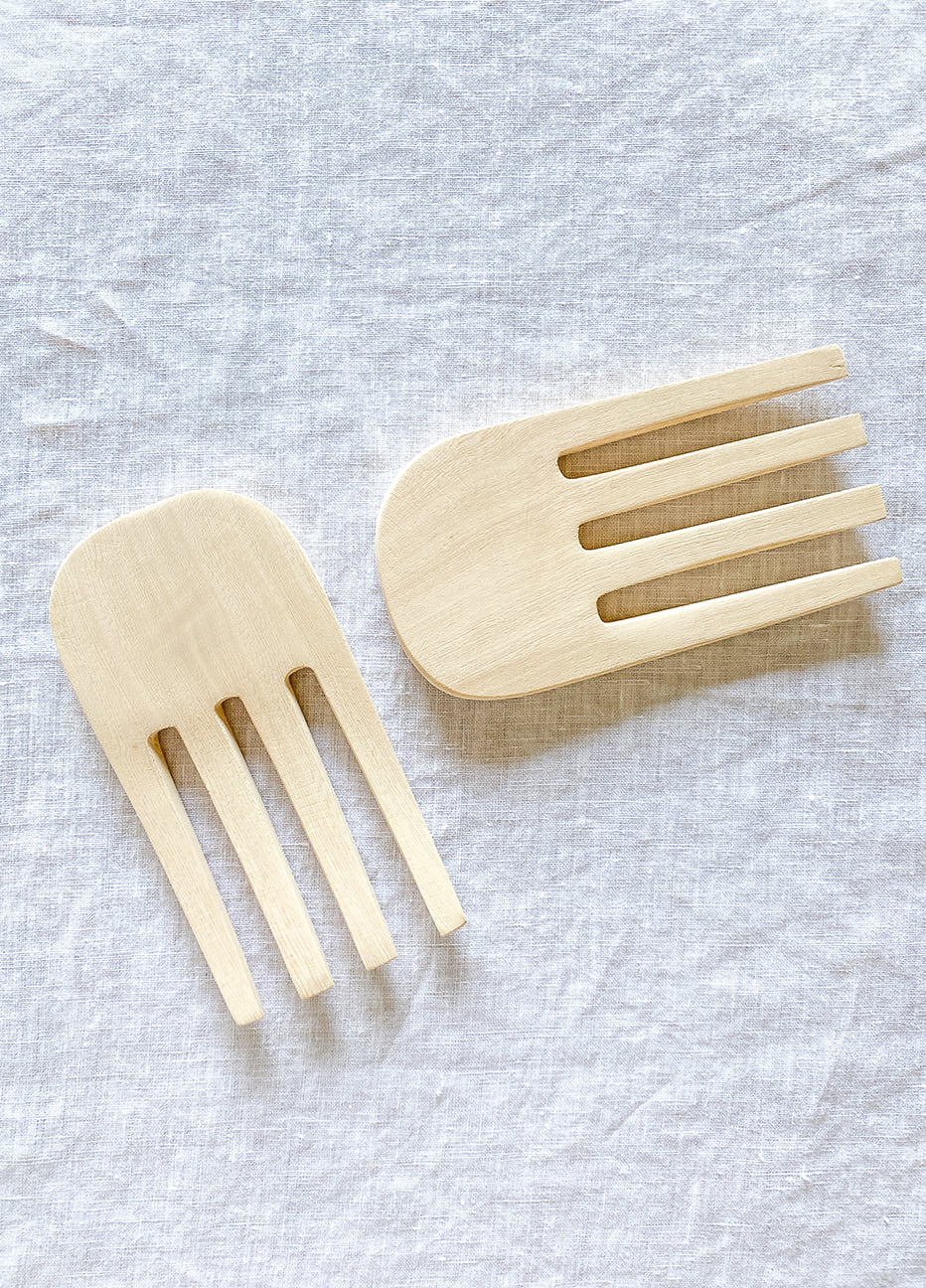 Jacaranda Wood Serving Forks