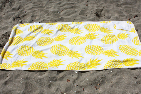SOLD OUT YELLOW PINEAPPLE Beach Towel With pocket NZD $45.00