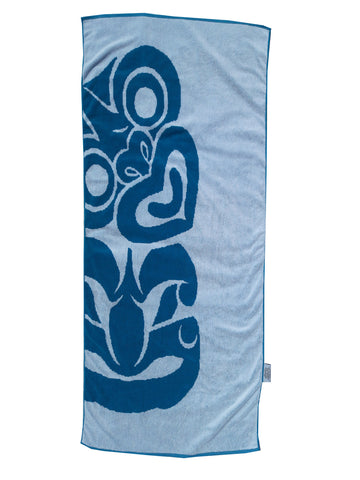 BLUE TIKI Beach Towel NZD $45.00