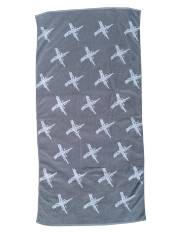 GREY CROSS Beach Towel NZD $45.00