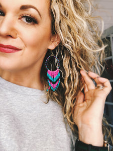 Makes we want to VACAY - Beaded Earrings
