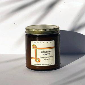 Cardamom and Tobacco Candle - Bohemian Reves