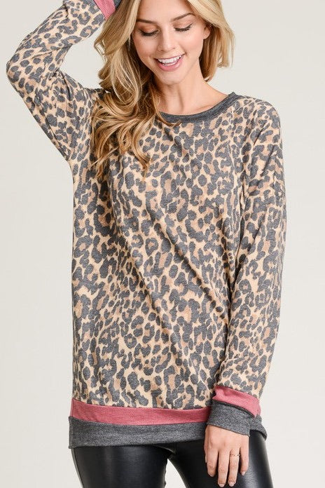 Angie Leopard Top