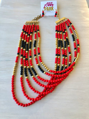 Bold and Beaded Statement Necklace
