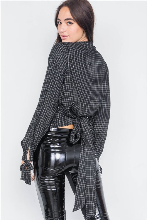 Hannah Top - Plaid Wrap