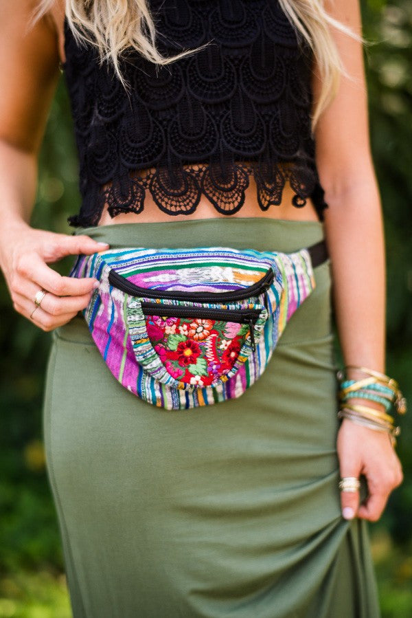Embroidered Boho Fanny Packs