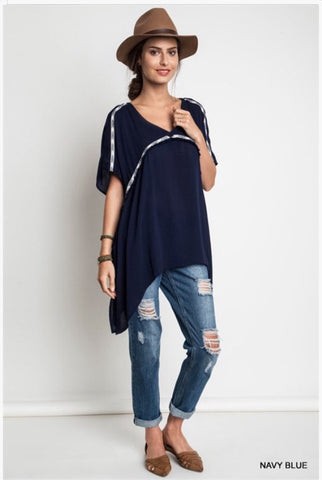 A Little Tribal - Navy Tunic