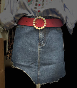 Rock the Summer - Denim Distressed Asymmetrical Skirt