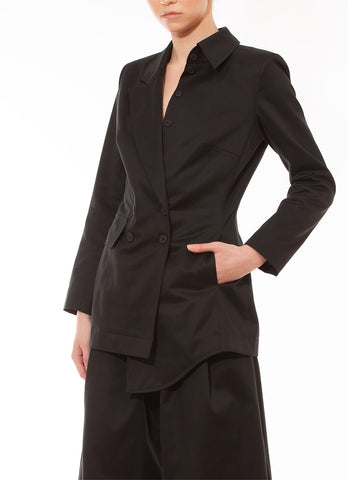 Asymetric blazer black