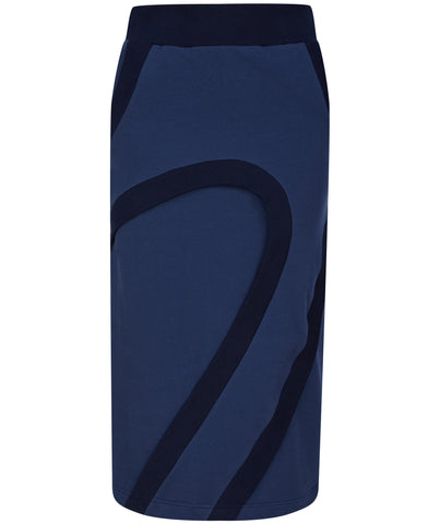 talented company blue midi skirt