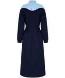 Two colored jersey dress blue color at talented company