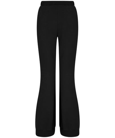 Boot cut sweatpants, black