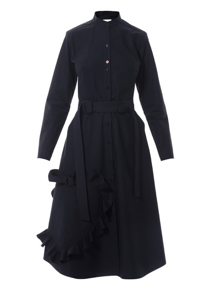 black shirtdress by talented company