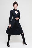 black midi shirt dress at talented company