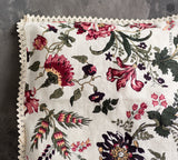 FLORAL linen pillow with lace