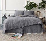 CHARCOAL GREY linen comforter cover