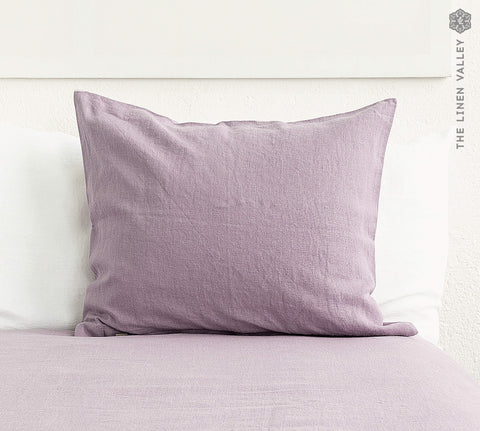 LIGHT LILAC linen pillow sham with zipper