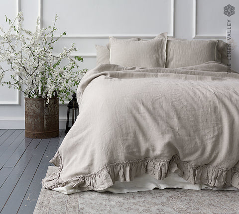 NATURAL UNBLEACHED linen comforter cover