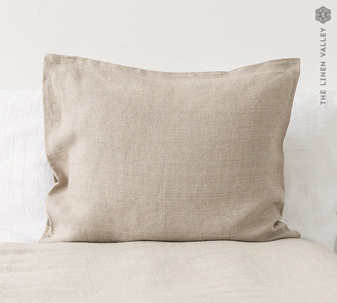 RUSTIC linen pillow sham