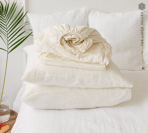 OFF WHITE set of linen sheets