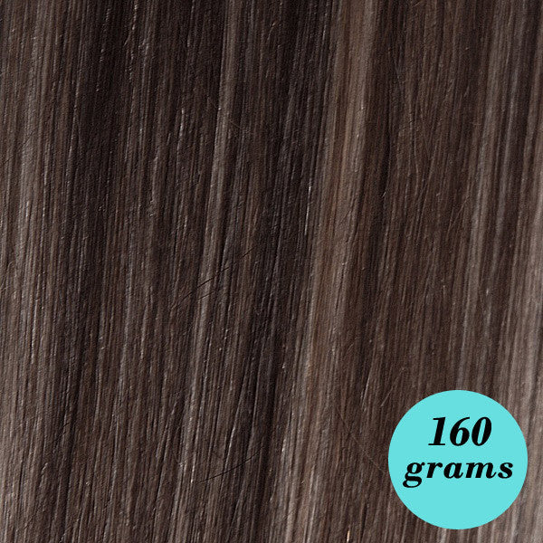 6064 Dark Blondish Brown 20 Clip In Hair Extensions Highlight