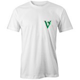 Little Vegan 'V' Organic Tee-Green